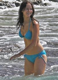 Jennifer Lawrence in a bikini