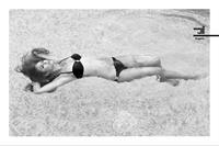 Sam Pinto in a bikini