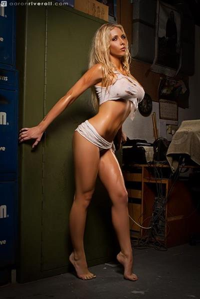 Amanda Stronegger in a bikini
