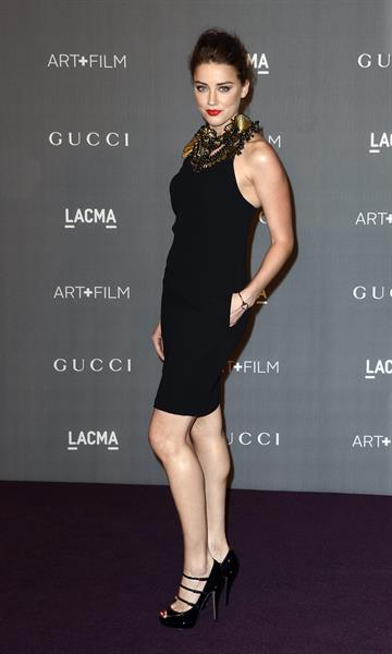 Amber Heard LACMA Art Film Gala in Los Angeles on October 27, 2012