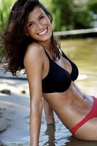 Nelleke Verkaart in a bikini