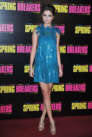 Selena Gomez 'Spring Breakers' premiere in Paris 2/18/13