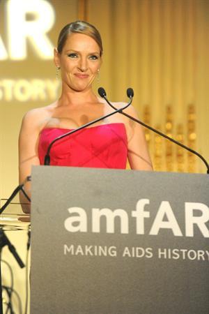 Uma Thurman 4th Annual amFAR Inspiration Gala in NYC June 13, 2013