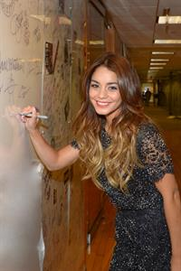 Vanessa Hudgens Visits SiriusXM Studios in New York - August 9, 2013
