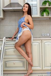 Tall and sexy in a short skirt dress, Aisha Choco is your dream come true. This certified nubile babe is a little bit shy as she flirts with the camera, but once she starts taking off her clothes her confidence grows. You won't be able to get enough of her perky ass and smooth bare twat.
