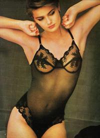Paulina Porizkova in lingerie