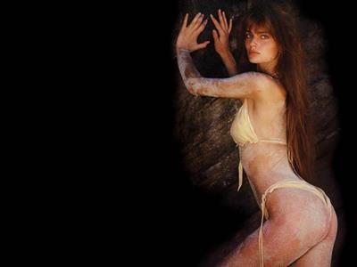 Paulina Porizkova in a bikini - ass