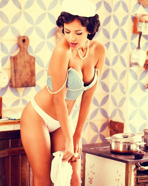 Michelle Martins in lingerie
