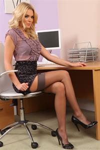 Porchia in a gorgeous leapard print pencil skirt