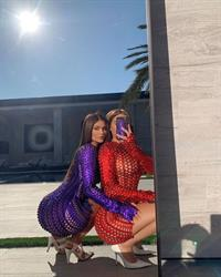 Kylie Jenner and Stassie aka Anastasia Karanikolaou both showing off their big tits and sexy ass booty's in see through hot minidresses.