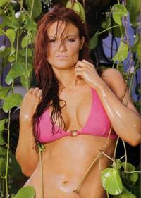 Amy Dumas in a bikini