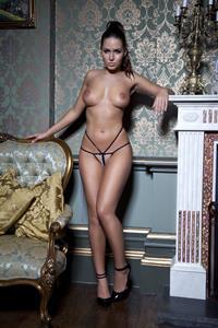 Sabine Jemeljanova takes off her lacy, black lingerie