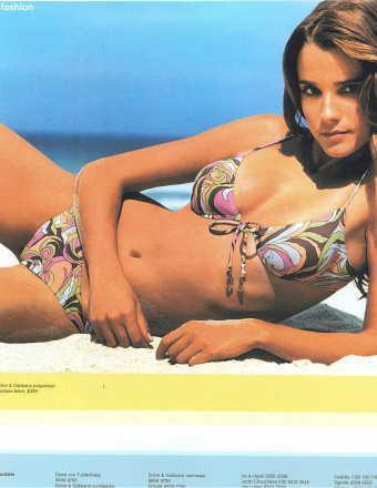 Celine Bosquet in a bikini