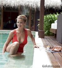 Virginie Efira in a bikini