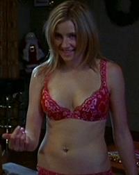 Sarah Chalke in lingerie