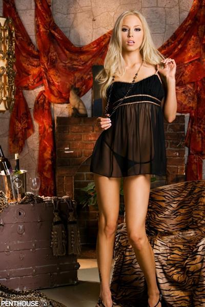 Brea Bennett in lingerie
