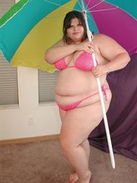 Anonymous in a bikini in lingerie