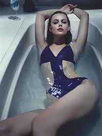 Frida Gustavsson in a bikini