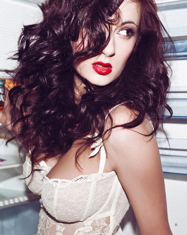 Alice Sey in lingerie